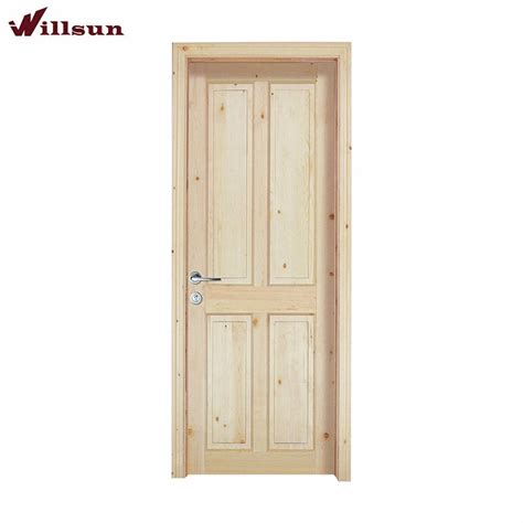 durable unfinished solid wood interior door china door