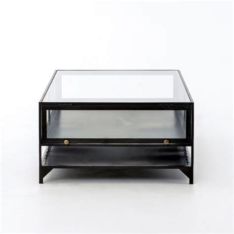 West Elm Glass Coffee Table The Shadow Box Coffee Table West Elm Within Glass Display Plan Top 10 Photos Tables Ikea With