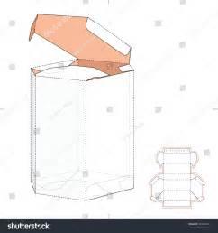 packaging die cut template shaped box die cut template stock vector 340360451