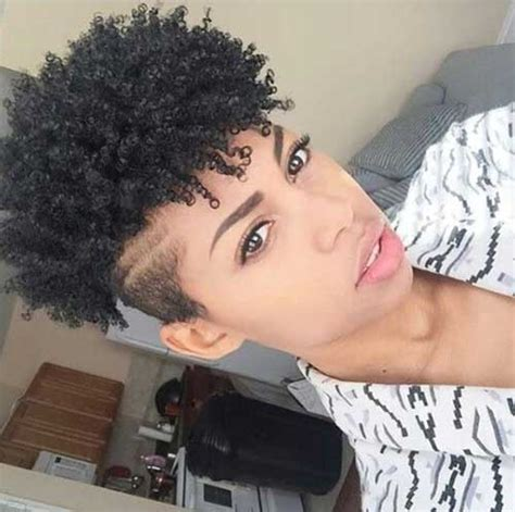 curly short hair with shaved down side 25 short curly afro hairstyles short hairstyles 2017