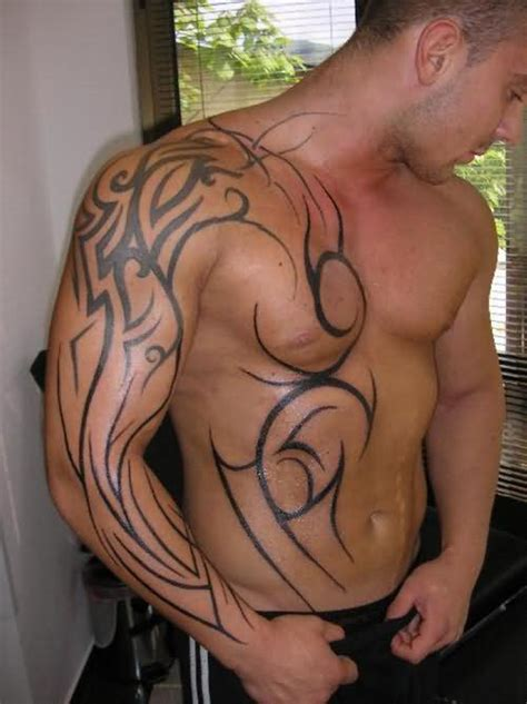 tattoos and muscles tribal design on muscles