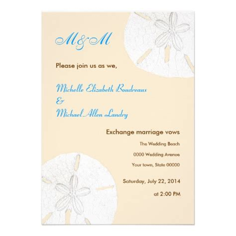 Casual Wedding Invitation Paper by Sand Dollar Casual Wedding Invitations 5 Quot X 7 Quot Invitation