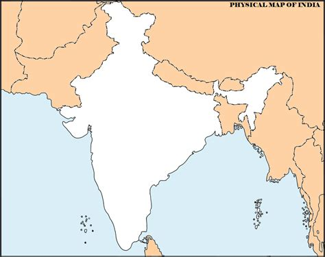 Outline Map Of Indian Subcontinent by Physical Map Of India Outline Printable Printable Maps