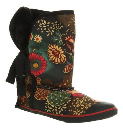 Origami Boots - womens sugar origami fur boot blk geisha prt boots ebay
