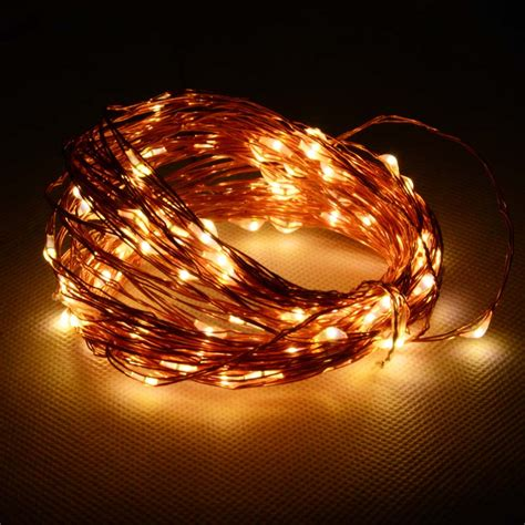 12 v waterproof copper string light 10m 100 led outdoor