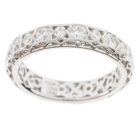 tacori iv diamonique epiphany crescent lace band ring
