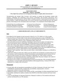 sles of executive resumes great sales executive resume