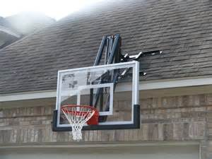 ceiling mounted basketball hoops roof master roof mount basketball system from dunrite