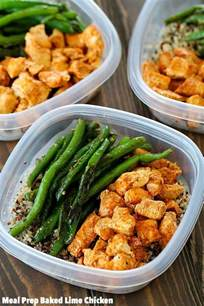 meal prep baked lime chicken bowls healthy easy