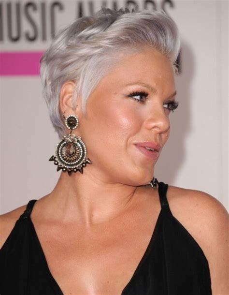 singer pink short hair singer pink in gray hair pink pinterest beautiful