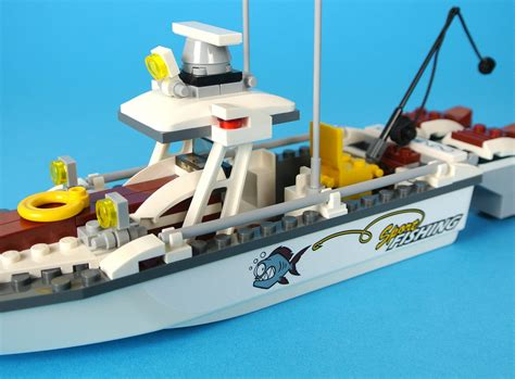 fishing boat lego review 60147 fishing boat brickset lego set guide and