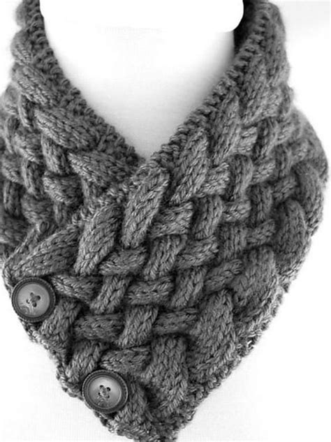 Woven Cable Neck Warmer Knitting pattern by ToppyToppy