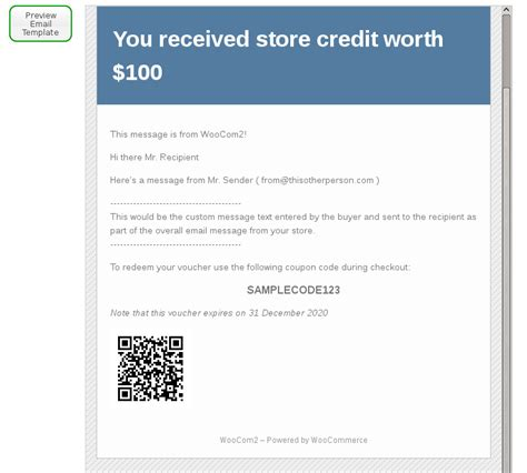 email gift certificate template woocommerce gift certificates pro