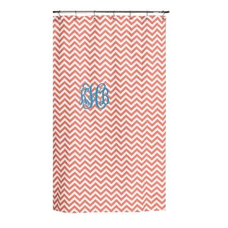 coral chevron shower curtain i pinned this chevron shower curtain in coral with