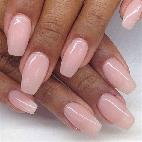 short coffin nails with a natural look essie s quot ladylike coffin nails nails and ballerina nails on pinterest