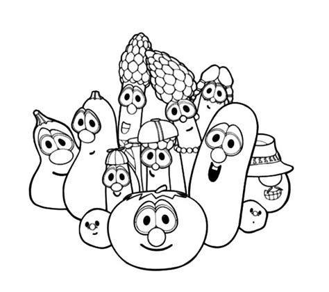 veggie tales coloring pages veggie tales characters larry boy and friends coloring