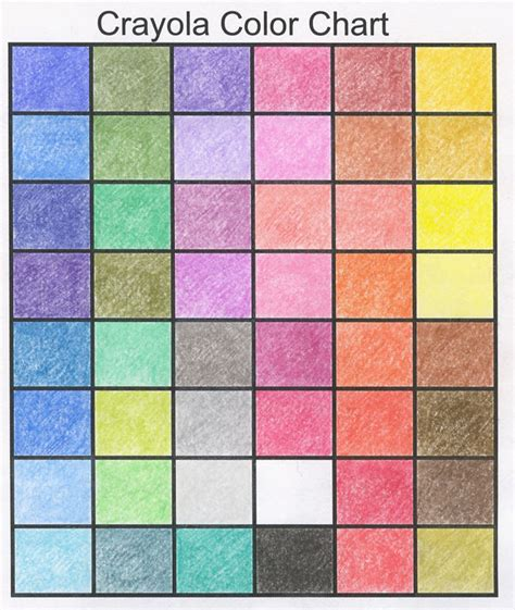 crayola color chart crayola color picking chart by henrideacon on deviantart