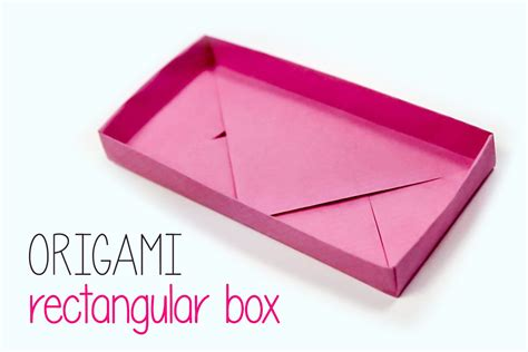 Origami Rectangle Box - rectangular origami box