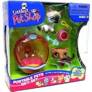 Pet Shop Singles A Ferret littlest pet shop kitten ferret portable gift set