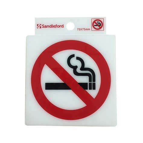 no smoking sign bunnings bunnings sandleford sandleford 75mm no smoking symbol self
