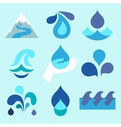 water design elements 25 vector collection of water royalty free vector image vectorstock