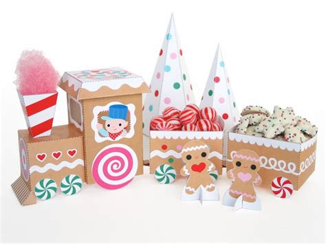 free printable christmas paper toys sweet treats gingerbread train printable paper craft