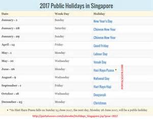 Poland Kalendar 2018 2017 Singapore Holidays Calendar