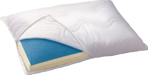 Serta Cool Slumber Gel Pillow by Serta Reversible Gel Memory Foam Classic Pillow Ca