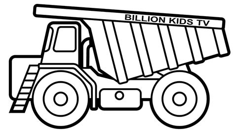 coloring page dump truck dump truck coloring pages colors for kids with