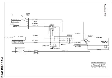 ignition switch wiring diagram cub cadet k
