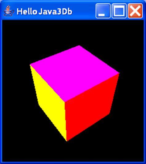 Hellojava3db Renders A Single Rotated Cube 3d Basics