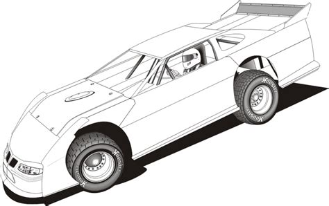 Amick Racing S Kids Corner Late Model Free Coloring Pages