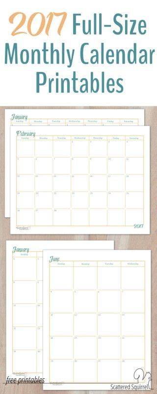 1000 ideas about monthly calendar template on pinterest