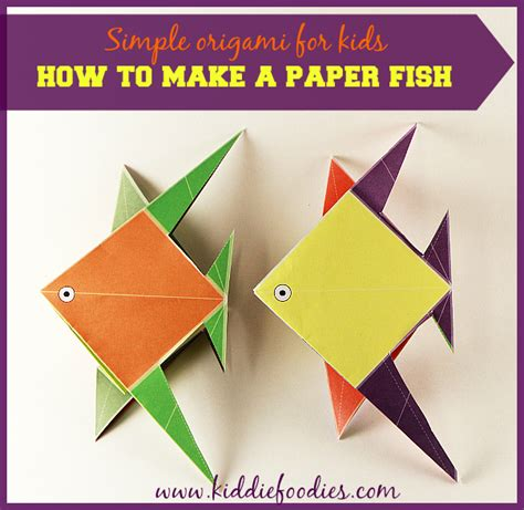 Make Paper Fish - simple origami for how to make a paper fish