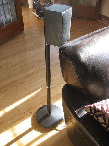 diy dirt cheap speaker stands entertainment room