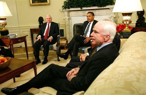 Mccain Office by Mccain And Barack Obama Photos Photos Obama Meets