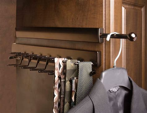 Closet Accessories by Telescoping Valet Rod Rubbed Bronze In Closet Valets