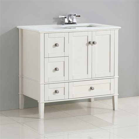 offset bathroom vanity tops simpli home chelsea 36 quot right offset bath vanity with