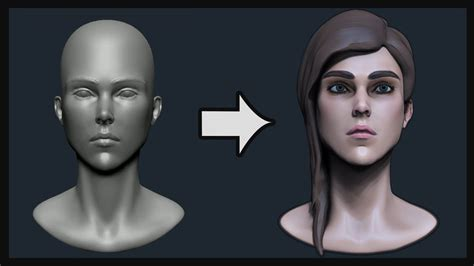 head sculpting tutorial in zbrush speed sculpting a head in zbrush tutorial youtube