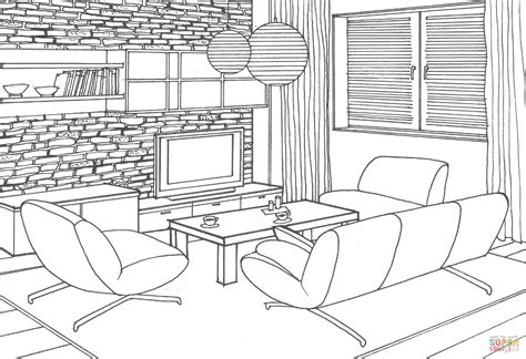 drawing room colour games dibujo de sala para colorear imagui
