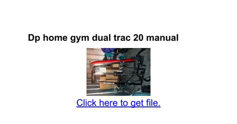 dp home dual trac 20 manual docs