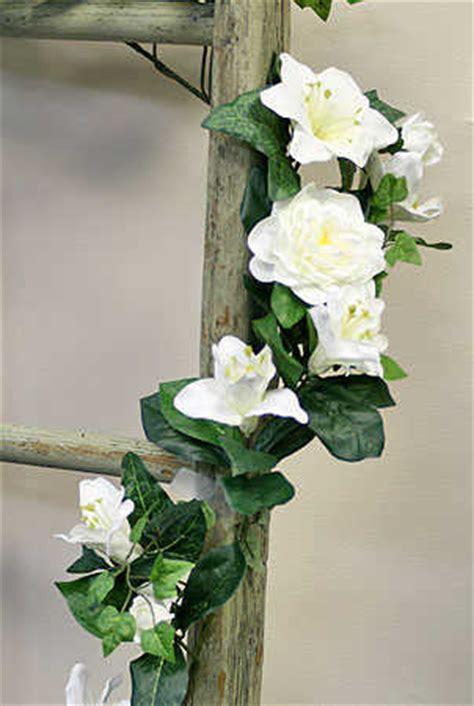 Gardenia Garland 6ft Silk White And Gardenia Garland Wedding Decor Ebay