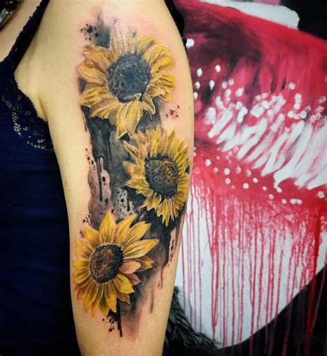 80 bright sunflower tattoos designs amp meanings for