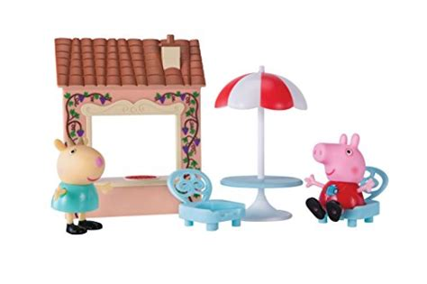 peppa pig table and chairs with umbrella peppa pig playtime set pizza toys toys dolls