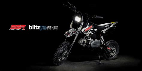 pit bike light kit blitzpro headlight kit ssr motorsports