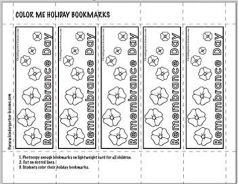 printable poppy bookmark free remembrance day activities for kids bookmarks to