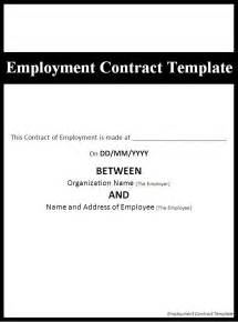 employment contract template page word excel pdf