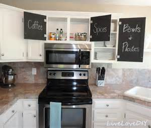 Kitchen Cupboard Makeover Ideas by Kitchen Makeover With Chalkboard Cabinet Doors