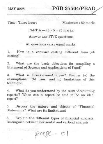 Mba Question Papers Madras Pdf by Of Madras Politics Management Accounting Mba