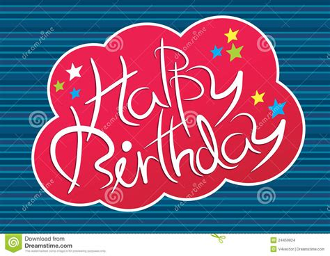 Happy Writing happy birthday writing stock vector image of abstract